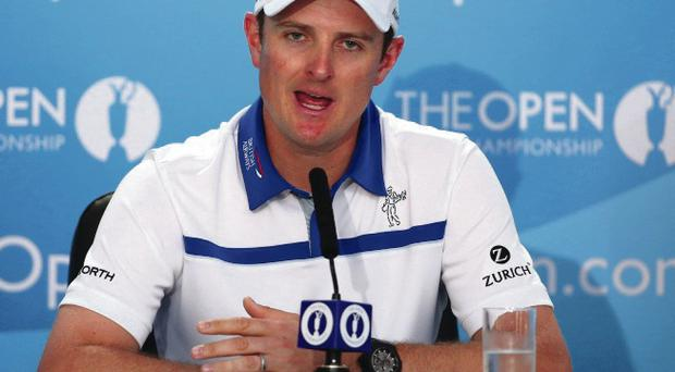 On form: Justin Rose outlines his Open ambitions yesterday