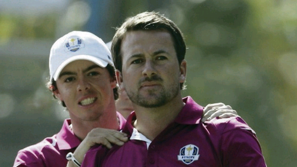 Strain: Rory McIlroy and Graeme McDowell