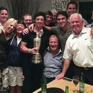 Rory McIlroy with family and friends