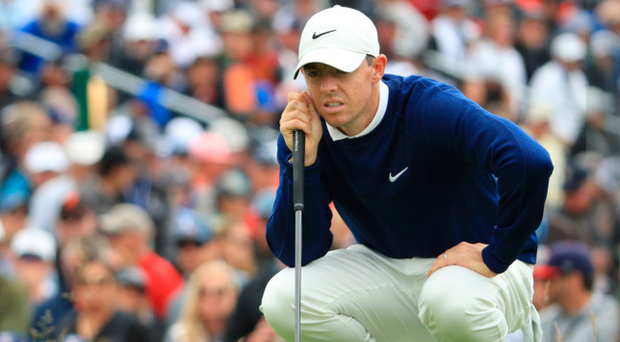 Eyes on prize: Rory McIlroy at the US Open last month