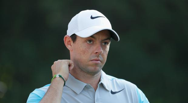 Setback: Rory McIlroy has pulled out of the Memorial Tournament