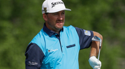 Tough start: Graeme McDowell has ground to make up