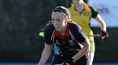 Changed sides: Gemma Frazer in action for Harlequins, who she left to return to Armagh