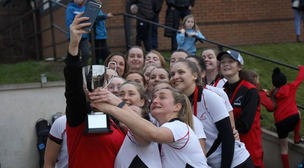 Capturing the moment: Priorians celebrate their Senior Cup win with a selfie