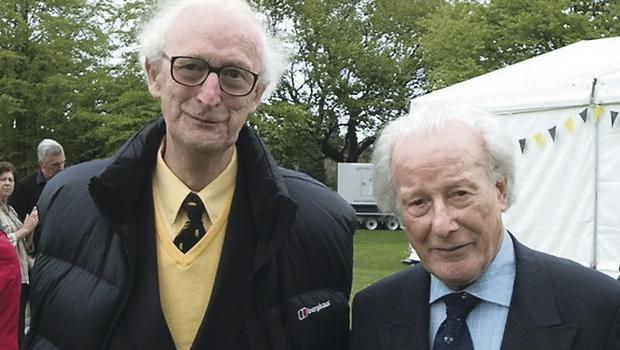Ralph Spearman (left) with Irish rugby  legend Jack Kyle