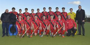 In it to win it: Banbridge Academy meet Wallace High (left) in the Burney Cup schoolboy hockey decider for what is their third major clash this season