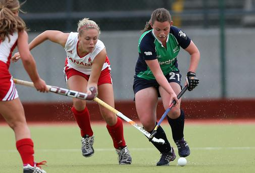 Lizzie Colvin in action against Canada