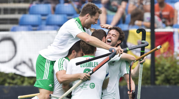 Top that: Ireland enjoyed a famous victory over England to move up the world rankings