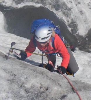 Ice maiden: Becky Weir knows Ards have a mountain to climb in the All-Ireland League but at least she is aware what it takes after a summer on Mont Blanc