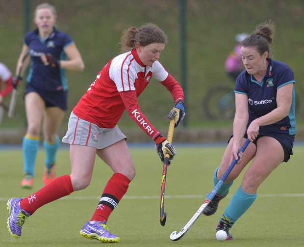 On the attack: Alex Speers of Pegasus takes on Rosie Carrigan of Hermes at the Dub