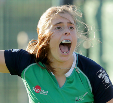 Key role: Ulster's Katie Mullan was involved in Ireland's goal