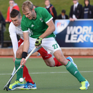 Milestone: Defender Conor Harte scored against Pakistan on his 200th international game at Lisnagarvey