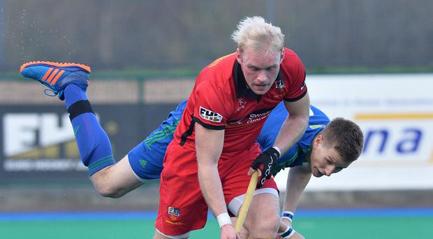 On the mark: Philip Brown converted Bann's only goal in their two EHL games over the weekend