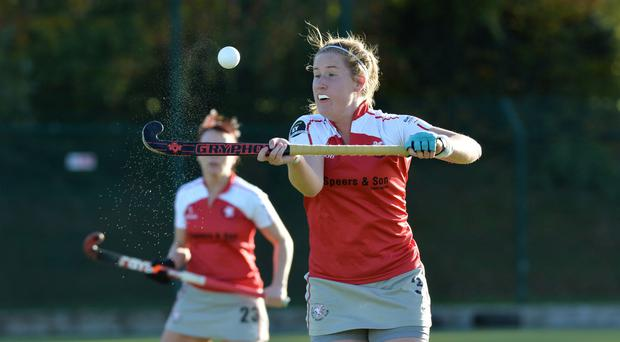 At the double: Hannah Grieve netted twice for Pegasus