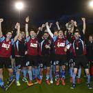 History makers: Kilkeel celebrate their first Kirk Cup success yesterday