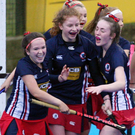Ballyclare celebrate Rachel Hill's winner