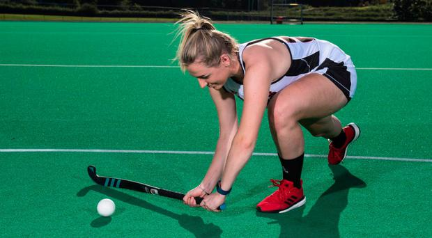 Welcome return: Katie Larmour is home from her studies in New York and will help Harlequins in the Irish Hockey League