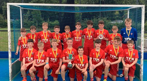 Top stuff: The Ulster Lions with their trophy after becoming the UK's Under-13 champions