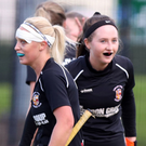 Just rewards: Lurgan celebrate Olivia Gibson's goal on Saturday