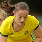 On target: Irish scorer Orla Fox