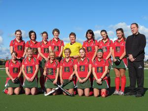 On the up: Donaghadee Ladies current First XI: Back row (L-R) Tasha Paxton, Suzie Ferguson, Ali Lawther, Carolyn Scott, Siobhan McAdam, Claire Stewart, Kerry Kennedy, Paige Reilly, Brian McKee Front row (L-R) Lisa Higgins, Kerry Savage, Ruth Kennedy (Capt), Kerrie Turtle, Victoria Speers, Maura Hennessey.