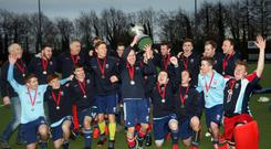 Just champion: Harlequins celebrate after winning the Linden Cup