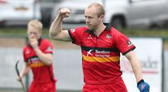 Special day: Eugene Magee leads unbeaten Banbridge in the final, hoping to retain the Kirk Cup