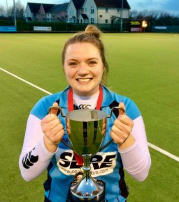 Silver lining: Garvey's Scarlett Holdsworth with the trophy
