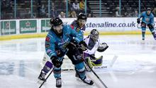No luck: Liam Morgan's goal was chalked off as the Belfast Giants suffered a 4-0 defeat