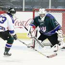 Northern Ireland Tridents ice hockey team train at the Odyssey Arena in Belfast