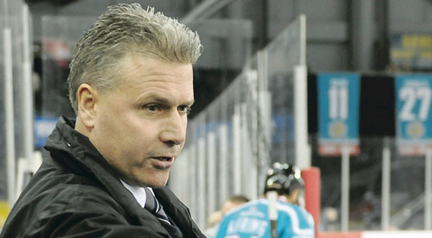 Paul Adey has led the Belfast Giants to a clear pole position in the Elite League