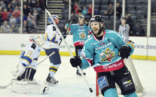 Belfast Giants win Elite League for fourth time. Pictured Kevin Saurette