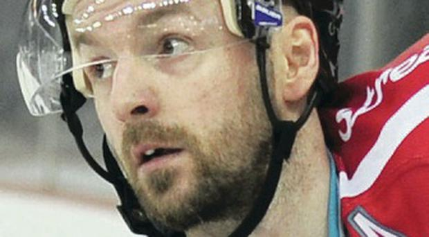 On target: Colin Shields struck early for the Belfast Giants
