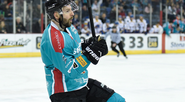 Belfast Giant's Colin Shields was on target