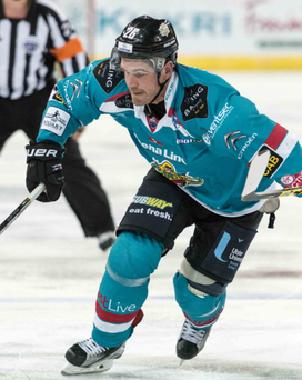 On target: Brandon Benedict was one of the goalscorers as the Giants defeated the Capitals for a second successive night