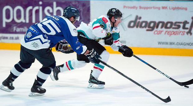 Swept aside: The Giants were struck down by Lightning in last night's season opener at Planet Ice