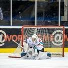 Safe hands: Jackson Whistle made 24 saves in Nottingham