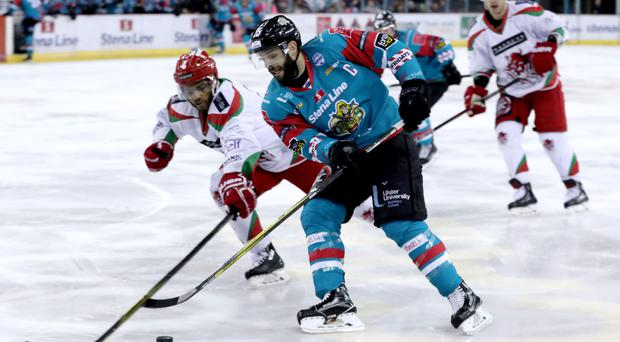 Belfast Giants captain Blair Riley scored a hat-trick