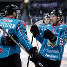 The Belfast Giants celebrate