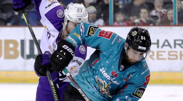 On target: David Goodwin scores against the Clan