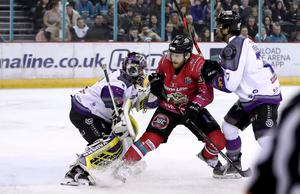 Back on ice: Liam Reddox returned to action this week