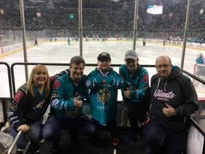 Hockey family: Ethan McClean takes centre stage alongside mum Yvette, David Harrower, Chris Harrower and dad Andy