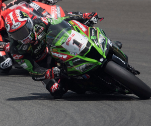 Jonathan Rea in action in Aragon