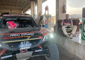 And relax: Kris Meeke chills out after completing the Dakar Rally