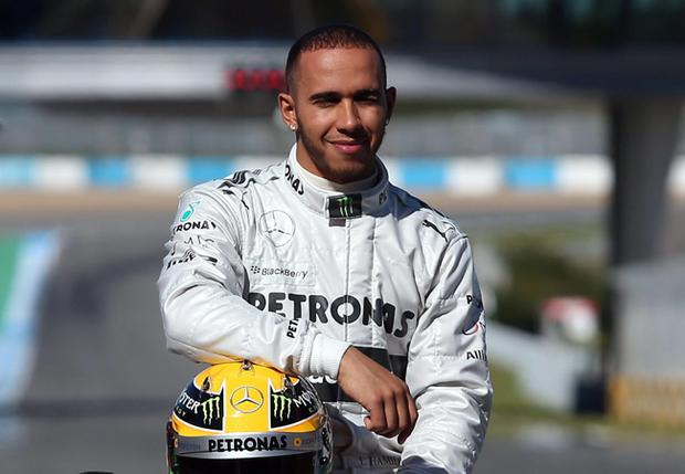 Lewis Hamilton during the Mercedes F1 W04 Launch at Circuito de Jerez, Jerez, Spain