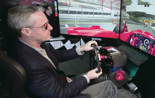 Eddie Irvine, back behind the wheel, albeit inside, but he still shoots from the hip with his views