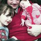 Garry Jennings with wife Kerry and daughters Jessica and Annie