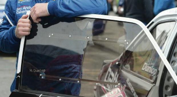 Top gear: Michael Dunlop joined co driver James McNulty at the Donegal International car rally