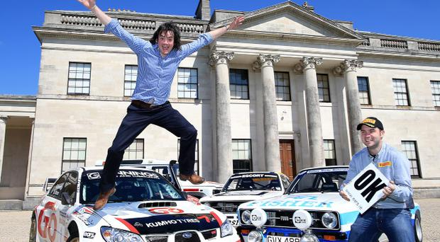 Leap of faith: Top drivers Garry Jennings (left) and Daniel McKenna at Todds Leap Ulster International Rally launch at Castle Coole