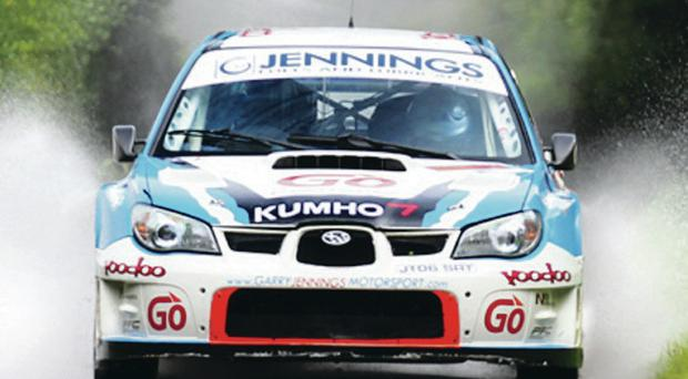 Home comfort: Garry Jennings is determined to put on a good show in front of his home crowd in the Todds Leap Ulster Rally